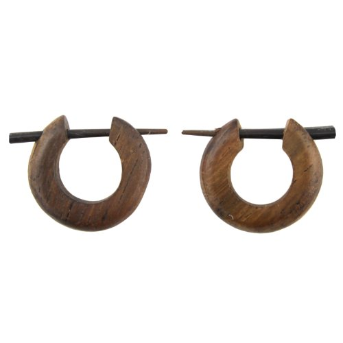 hand-carved-small-sono-wood-hoop-with-horn-pin-earrings