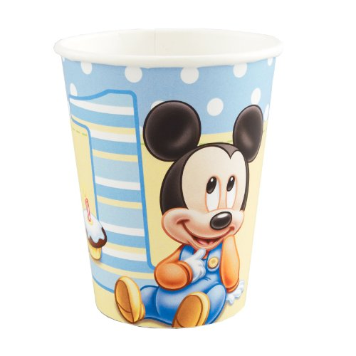Hallmark Mickey's 1st Birthday 9 oz Cups - 8 ct