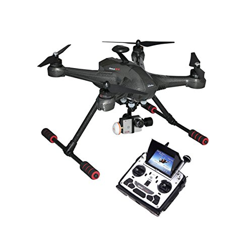 Walkera Scout X4 RTF FPV RC Quadcopter W/Ground Station/ G-3D 3 Axis Brushless Gimbal/iLook+ Action Camera/DEVO F12E/Apple iOS System Black