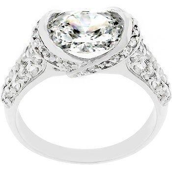 Sunrise Wholesale J3112 White Gold Rhodium Royal Fashion Ring- Size 10
