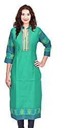 Cruzaar Formal Straight Green Kurti