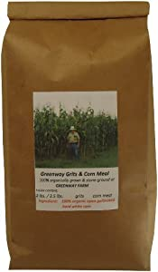 Greenway stone-ground non-gmo (coarse) CORN GRITS 100% organically grown - 3.5 lb. bag