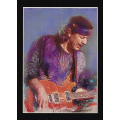 Carlos Santana (Playing Guitar) Music Poster Print - 11