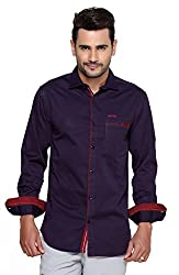 Rapphael Men's Full sleeve Casual Shirt -VOILET