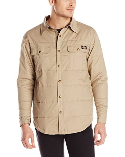 Dickies Men's Quilted Snap Front Overshirt