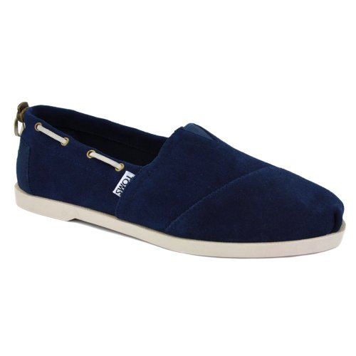 Toms Nautical Biminis Mens Slip On Suede Boat Shoes