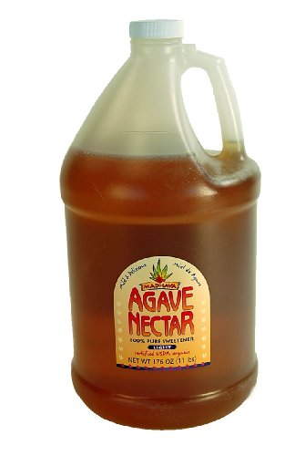 Madhava Organic Light Agave Nectar- Case of Four 1 Gallon Jugs- Vegan, Vegetarian Sweetener- Honey, Sugar, Syrup Substitute - Case of 4