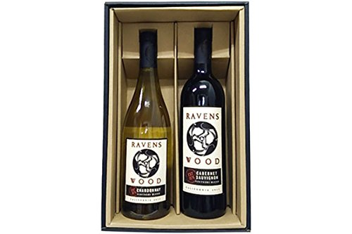 カリフォルニアワイン 【赤白ワインセット】 レーヴェンスウッド カベルネソーヴィニヨン×シャルドネ ギフト箱入り 750ml×2本