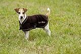 EQUI-THÃME'Polar' dog rug - 36 cm/14' - Black, Golden Binding