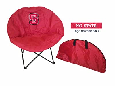 Rivalry Sports Team Logo Design Outdoor Travel Tailgating NC State Round Chair
