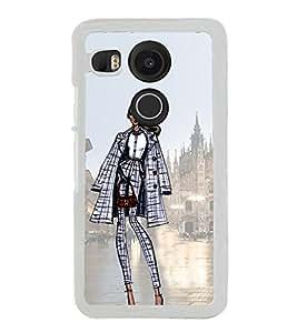 Smart Dressed Women 2D Hard Polycarbonate Designer Back Case Cover for LG Nexus 5X :: LG Google Nexus 5X New