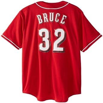 MLB Cincinnati Reds Jay Bruce Scarlet Baseball Jersey Spring 2012 Mens by Majestic