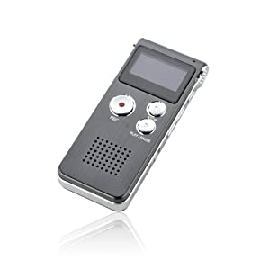 EBEST - New 8GB Digital Voice Recorder 650Hr Dictaphone MP3 Player with U Disk Iron-Gray