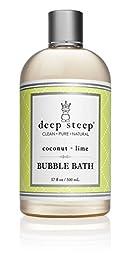 Deep Steep Classic Bubble Bath, Coconut Lime, 17 Fluid Ounce
