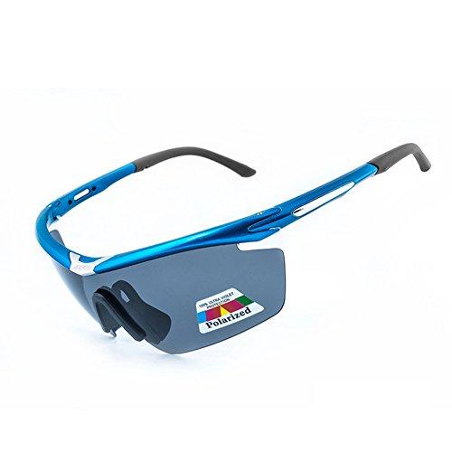 bicicletta polarizzate occhiali Equitazione da sole di guida sportivi PC di Uomini o Donne Bettertol con 5 lenti intercambiabili(Blu)