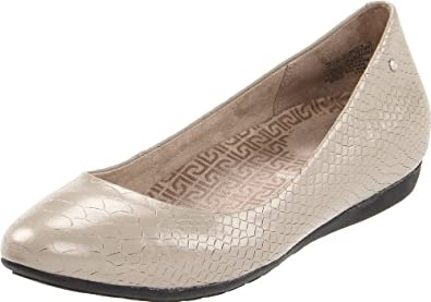 (清仓)Rockport Women's Faye Ballet 乐步Eva缓震真皮平底休闲鞋 粉$20.46 曲线未更