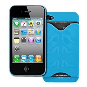 Empire Apple Iphone 4S Cover - Light Blue Id Credit Card Stealth Case