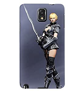 PrintVisa Hot & Sexy Girl 3D Hard Polycarbonate Designer Back Case Cover for Samsung Galaxy Note 3