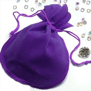 New Ladies Ultra Modern Fashion Purple Velvet Pouch 12 Pcs In Poly Bag