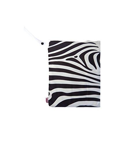 NUBY Washable Wet Bag, Zebra - 1