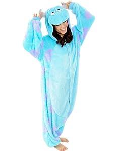 Ninimour- Totoro Kigurumi Pajamas Adult Anime Cosplay Halloween Costume (S, HM057)