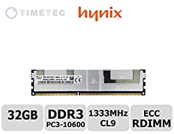 Timetec SK Hynix 32GB DDR3L 1333MHz PC3-10600 Load Reduced ECC 1.35V CL9 4Rx4 Quad Rank 240 Pin LRDIMM Server Memory Ram Module Upgrade HMT84GL7MMR4A-H9