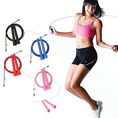 Zcl Kylin Sport? Crossfit Speed Canle Wire Skipping Jump Rope Adjustable Length Cardio Heart , Black