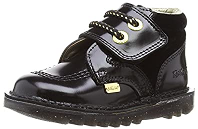 Kickers Girls Kick HI One Boots 113087 Black 5 UK Child, 22 EU