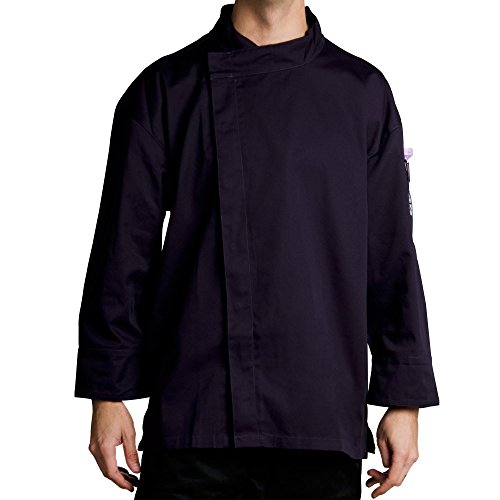 Chef Revival J113Exp-Xs Poly-Cotton Knife And Steel 3/4 Sleeve Chef Jacket With Hidden Snaps, X-Small, Espresso