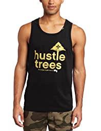 LRG Men\'s Core Collection Hustle Trees Tank, Black, Medium
