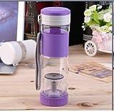 NEW Healthy Portable Travel Sport Tea Water Seal Bottle 550ml Travel Mug With Filter Strainer Tea Seal Bottles (Purple)