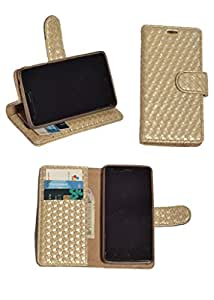 R&A Pu Leather Wallet Flip Case Cover With Card & ID Slots & Magnetic Closure For Sony Xperia P