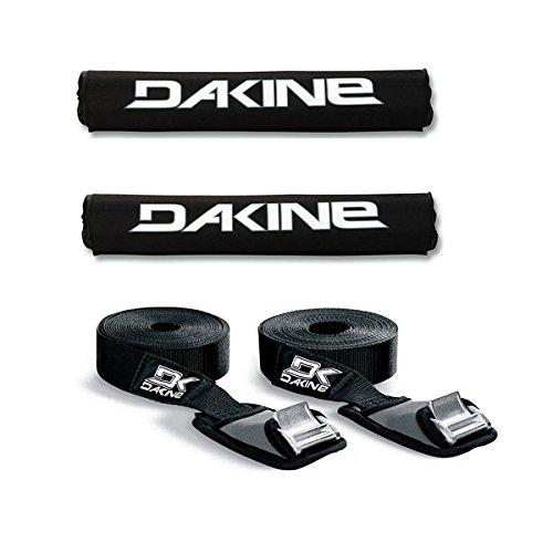 Dakine-18-ROUND-BAR-Black-Surfboard-SUP-Kayak-Roof-Car-SUV-Rack-Pad-Set-with-12-Baja-Tie-Down-Straps-Thule