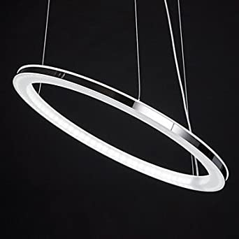 LED Chandelier, Modern Round Iron Acrylic Plating - - Amazon.com
