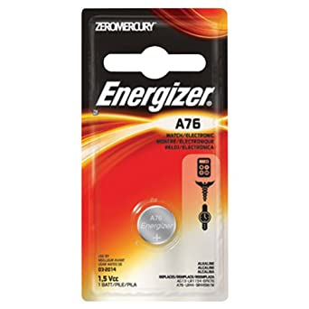 Energizer Watch/Electronic/Specialty Battery, A76 (A76BP)