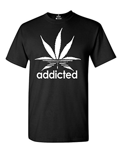 Shop4Ever-Addicted-White-Leaf-T-shirt-420-Weed-Day-Shirts