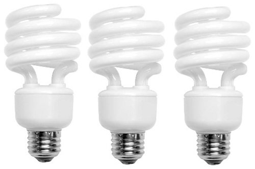 Tcp 689093 Cfl Mini Spring A Lamp - 40 Watt Equivalent (Only 9W Used) Soft White (2700K) Spiral Light Bulb - 3 Pack
