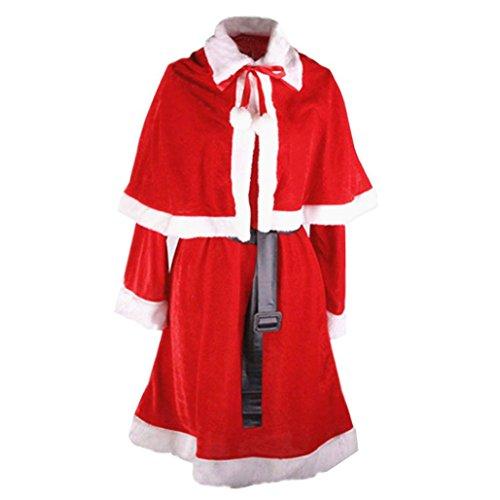 [Ladies Sexy Santa Costume Women Christmas Party Fancy Dress Cosplay Suit] (Xxl Santa Suits For Sale)