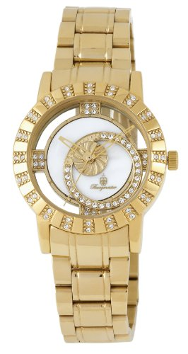 Burgmeister Ladies Quartz Watch with Mother Of Pearl Dial Analogue Display and Gold Stainless Steel Plated Bracelet BM517-279