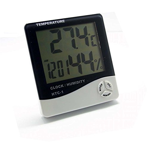 Sienoc LCD Display Temperature and Humidity Meter with Alarm Clock Hygrometer - 1