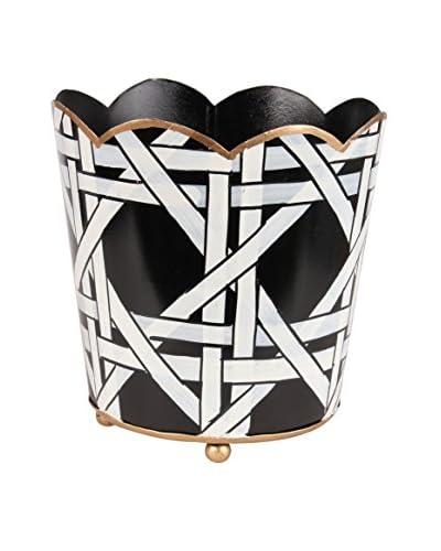 Jayes Cane Decorative Cachepot, Black