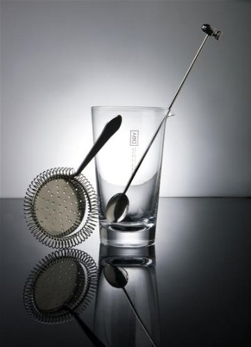 Balvi - Set Base utensili per Cocktail da barman Dry Collection Inox Vetro Idea Regalo