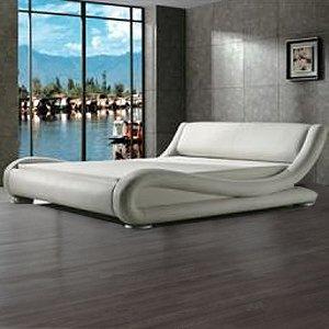 Muebles Bonitos - Cama Barcelona - Blanco 140x190 cm (Varios colores y medidas disponibles)