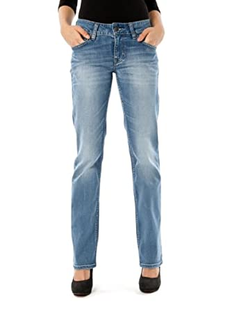 Mustang Emily Straight Jeans Aged Bleached, Blue,