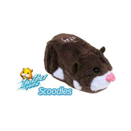 Amazon.com: Zhu Zhu Pets Scoodles Dark Brown & White Hamster Kids TOY