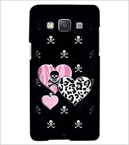 PrintDhaba Heart with Skull D-1966 Back Case Cover for SAMSUNG GALAXY A5 (Multi-Coloured)