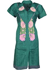 Elegant Blended Women Kurta (26608 Vviy, Bottle Green , Free Size)