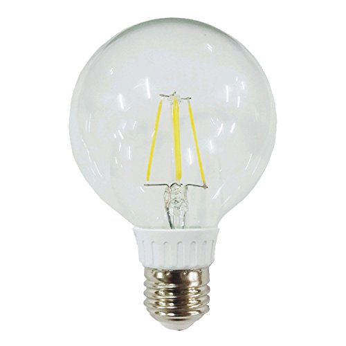 Amledtek A-Bf51 Led Filament G25 5W To Replace 50W Or 60W Incandescent Bulb Softwhite (2700K)