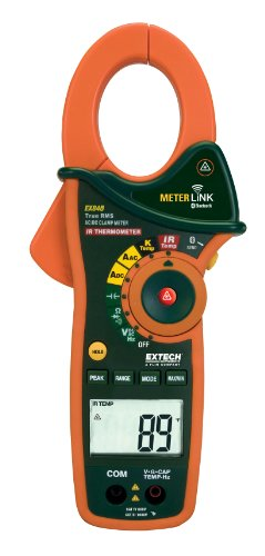 Extech Ex845 1000A Ac/Dc True Rms Clamp/Dmm With Ir Thermometer And Bluetooth Meterlink