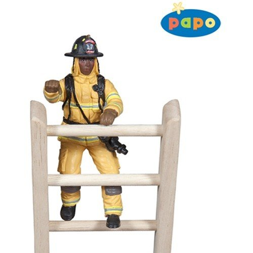 Papo: Yellow US Fireman on Ladder